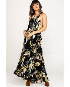 Free People Women's Anita Printed Maxi Dress, Black, hi-res