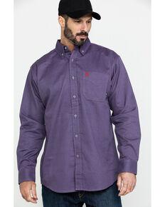 Ariat Men's FR Octane Geo Print Long Sleeve Work Shirt - Big , Silver, hi-res