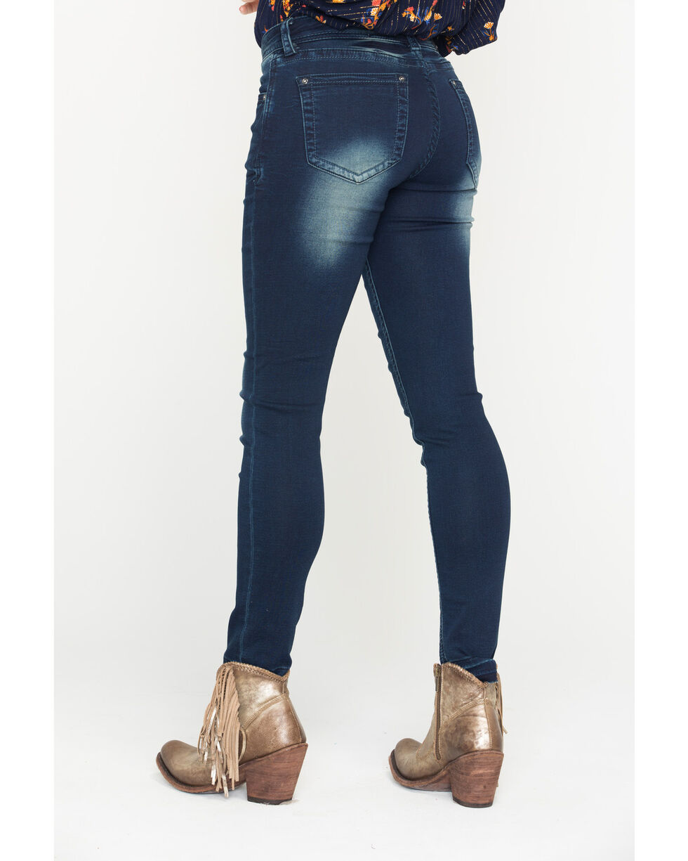 Grace in LA Women's Simple Design Jeans - Skinny , Indigo, hi-res