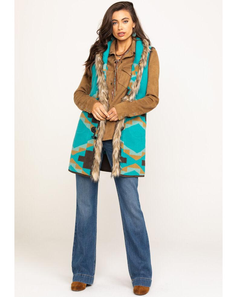 Tasha Polizzi Women's Cody Teal Vest, Aqua, hi-res