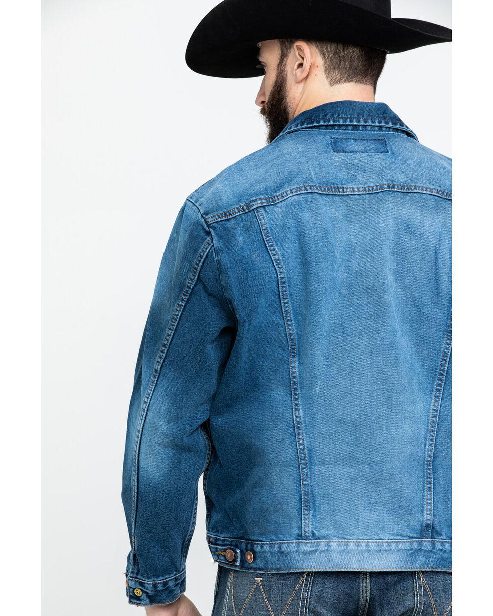 Wrangler Men's Cowboy Cut Button Front Denim Jacket , Indigo, hi-res