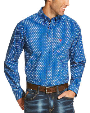 Ariat Men's Blue Rico Print Long Sleeve Shirt - Big and Tall , Blue, hi-res