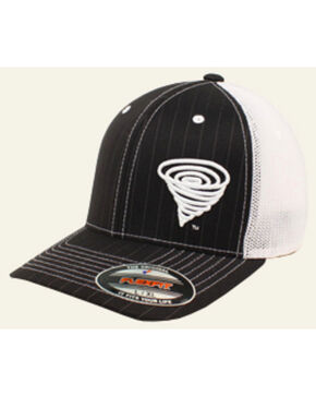 Twister Youth Logo Pinstripe Mesh Back Ball Cap, Black, hi-res