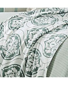 HiEnd Accents Green Belmont Duvet - Super King , Green, hi-res