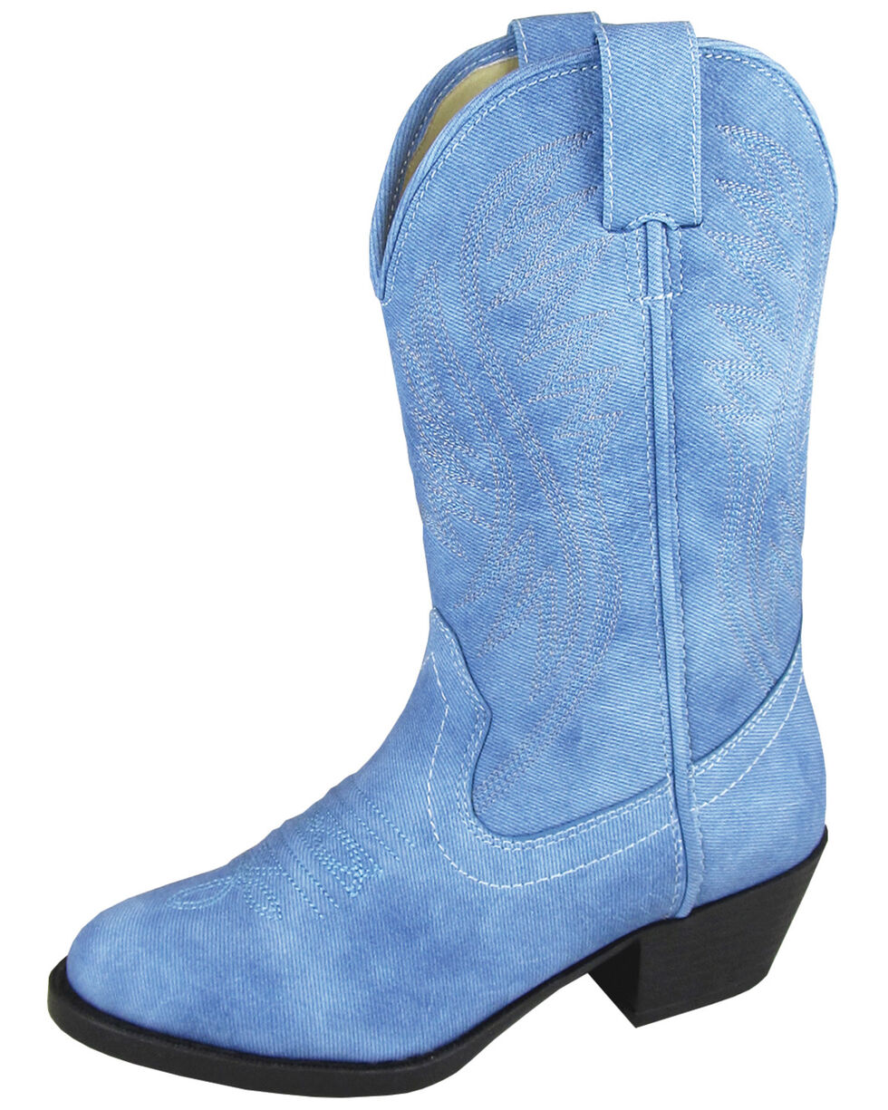 Smoky Mountain Girls' Mesquite Western Boots - Round Toe, Indigo, hi-res