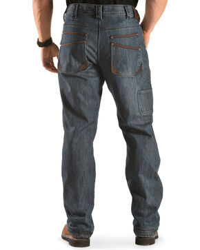 American Worker Thermo Micro-Fleece Lined Stretch Work Jeans, Indigo, hi-res
