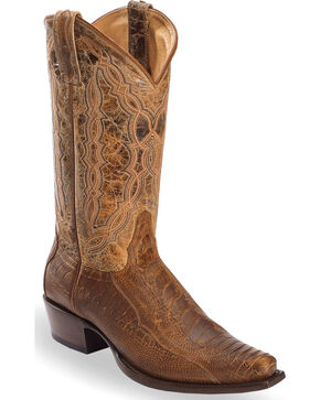 Cody James Men's Ostrich Leg Exotic Boots - Snip Toe, Brown, hi-res