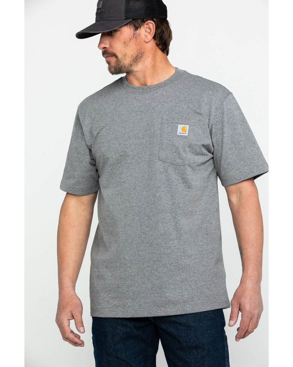 Carhartt Men's C-Logo Graphic Pocket Work T-Shirt , Charcoal, hi-res