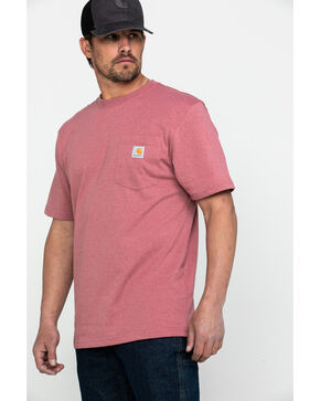 Carhartt Men's Pink Workwear Pocket Short-Sleeve Work T-Shirt  , Pink, hi-res