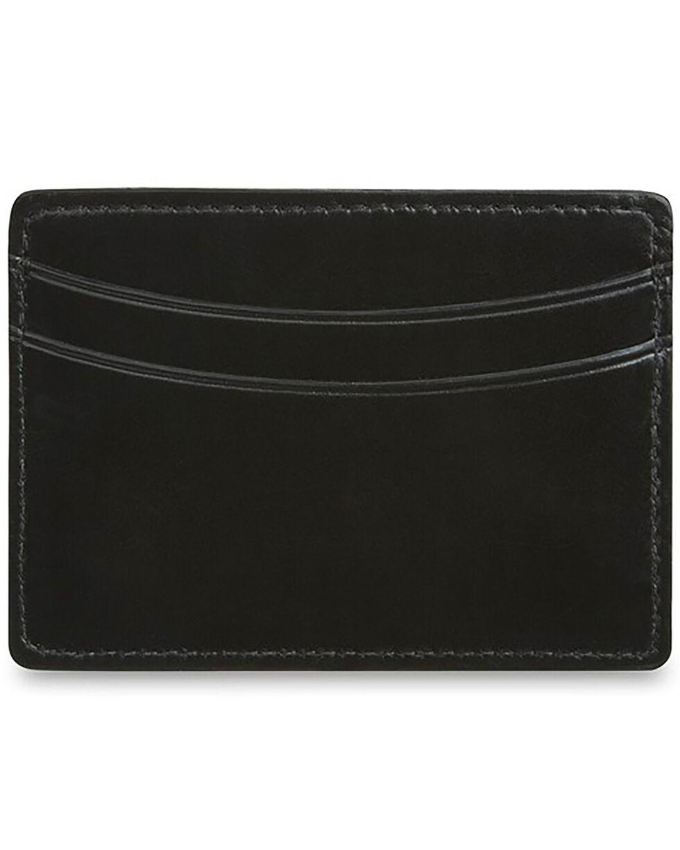Lucchese Men's Black Leather Credit Card Case, Black, hi-res