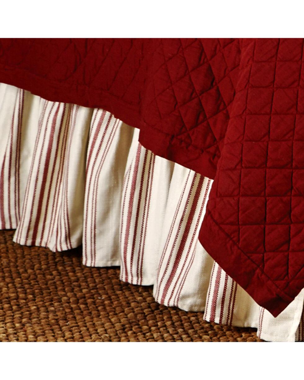 HiEnd Accents Prescott Red Stripe Bedskirt - Queen , Red, hi-res
