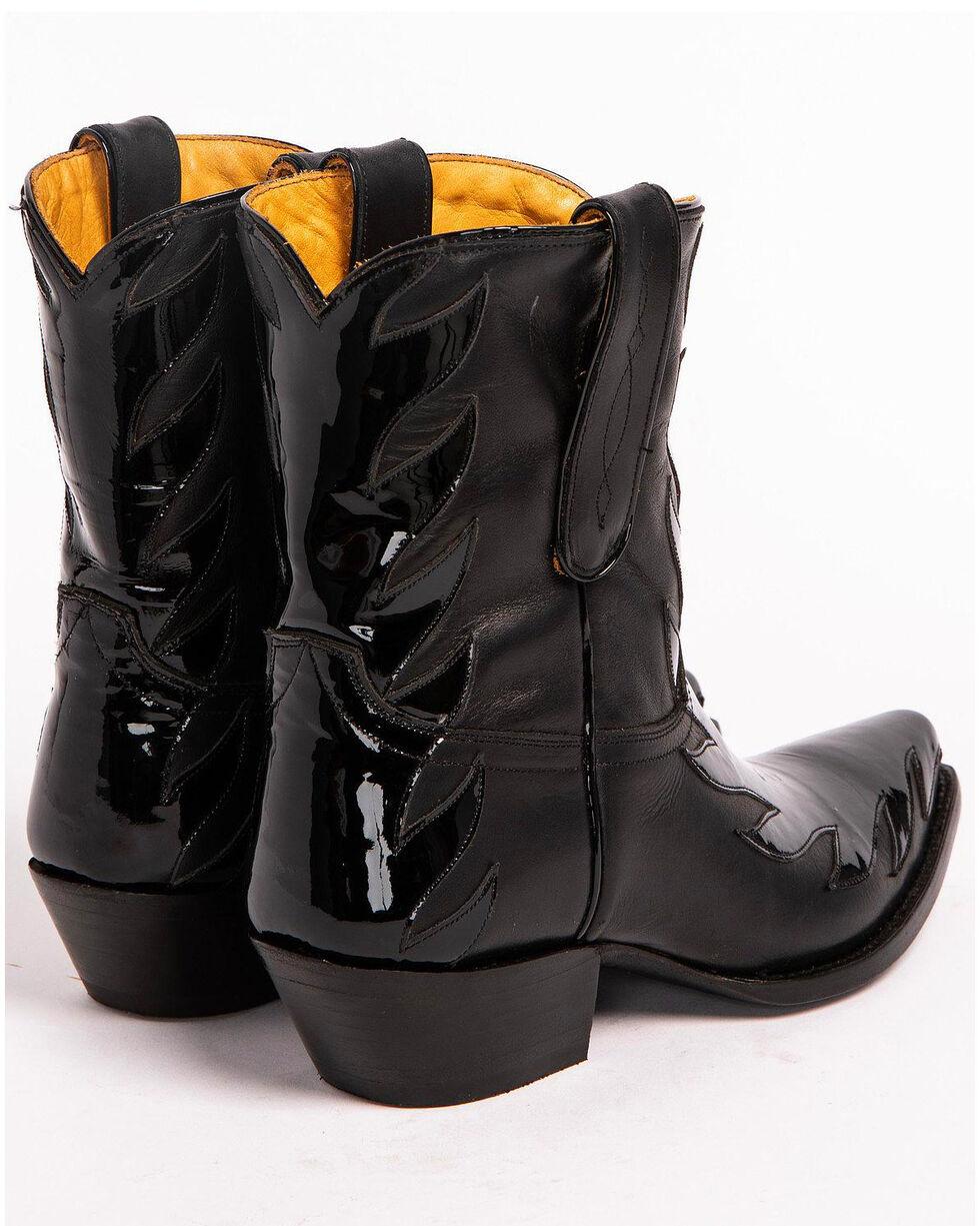 Liberty Black Women's Black Patent Kingdom Booties - Snip Toe, Black, hi-res