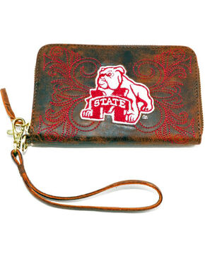 Gameday Boots Mississippi State University Leather Wristlet, Brass, hi-res