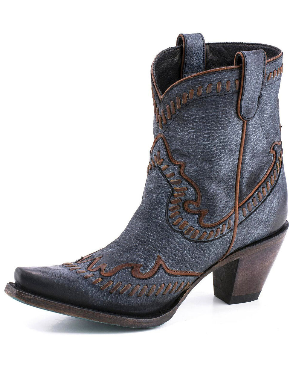 Lane Women's Hoedown Booties - Snip Toe , Black, hi-res