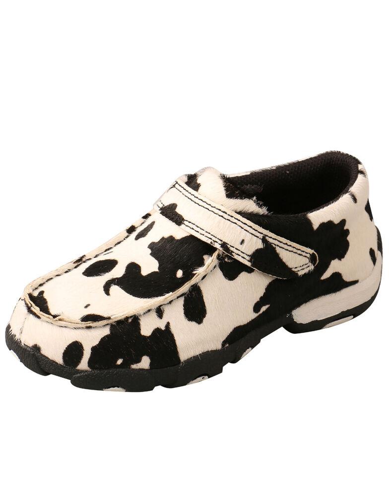 Twisted X Toddler Boys' Boat Shoes - Moc Toe, Black/white, hi-res