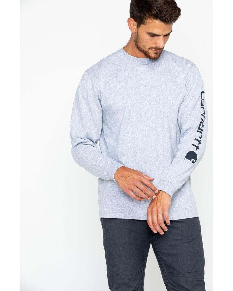 Carhartt Men's Long Sleeve Graphic T-Shirt, Hthr Grey, hi-res