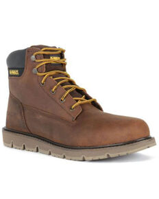 DeWalt Men's Flex Lace-Up Work Boots - Soft Toe, Brown, hi-res
