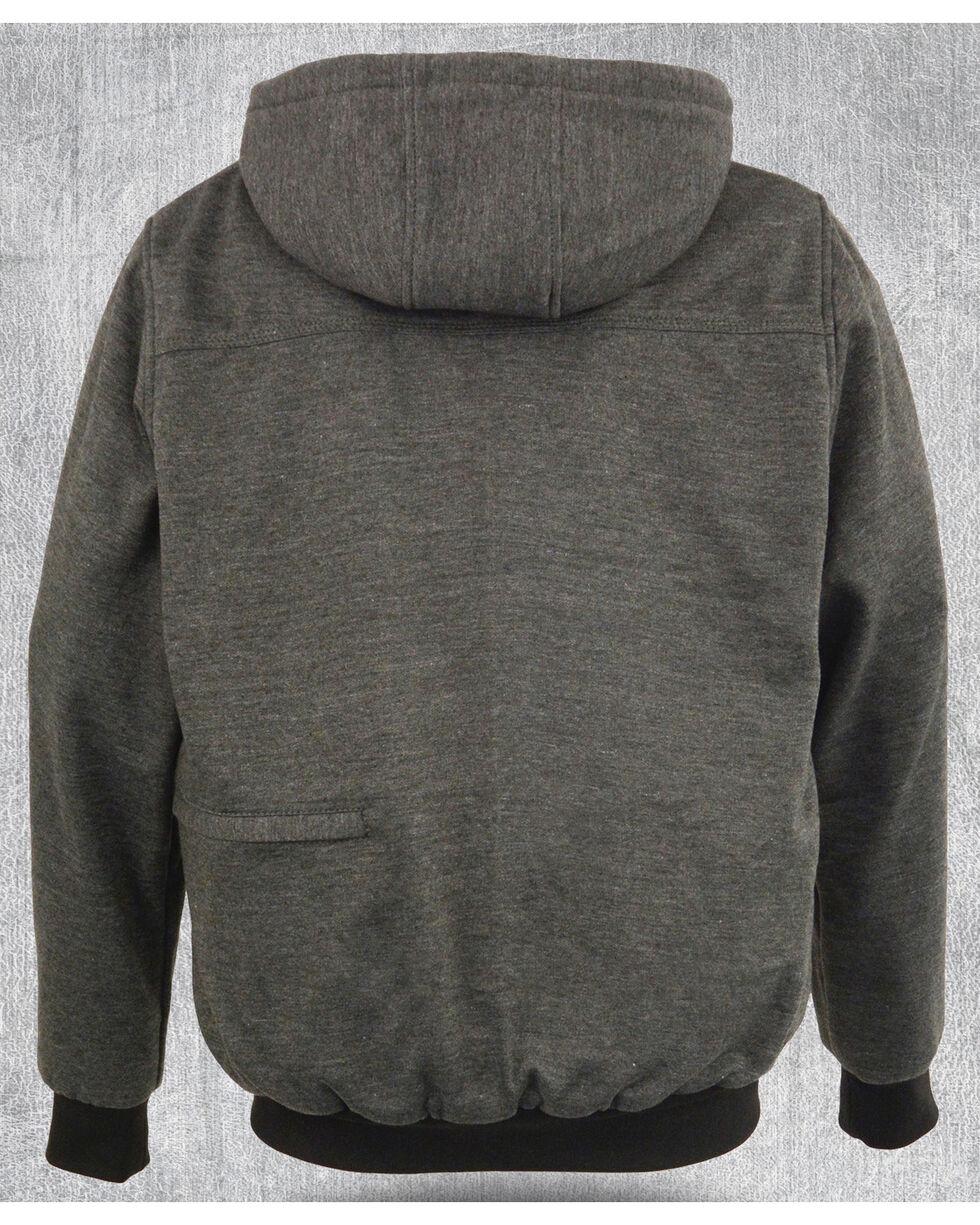 Milwaukee Leather Men's Grey Zipper Front Heated Hoodie - Big 5X , Grey, hi-res