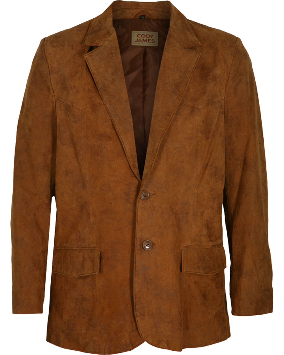 Cody James Men's Brown Blazer - Long , Brown, hi-res