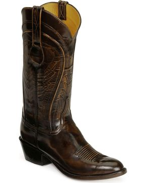 Lucchese Handcrafted Classics Seville Goatskin Boots - Medium Toe, Brown, hi-res