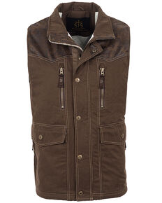 STS Ranchwear Men's Frisco Vest , Brown, hi-res