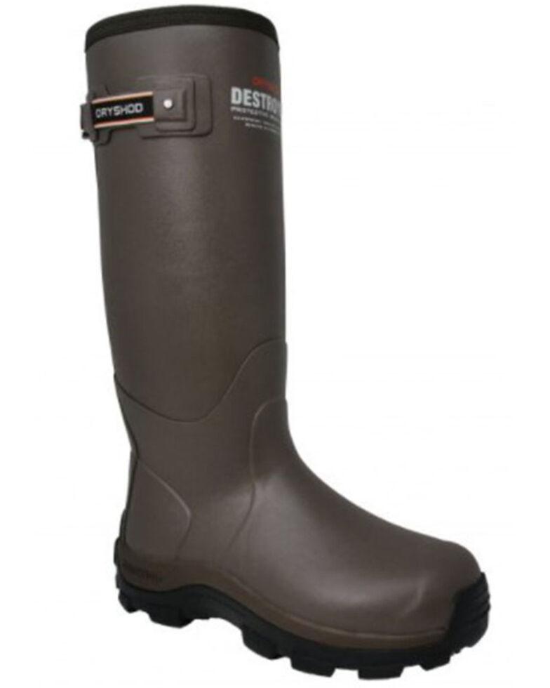 Dryshod Men's Destroyer Rubber Boots - Soft Toe, Beige/khaki, hi-res