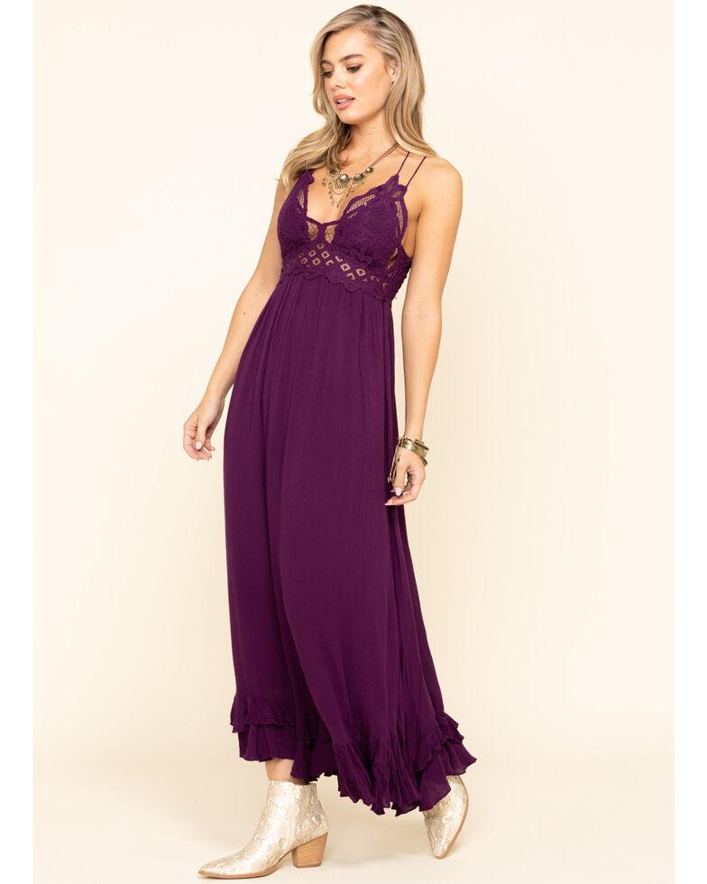 Free People Women's Adella Maxi Slip Dress, Purple, hi-res