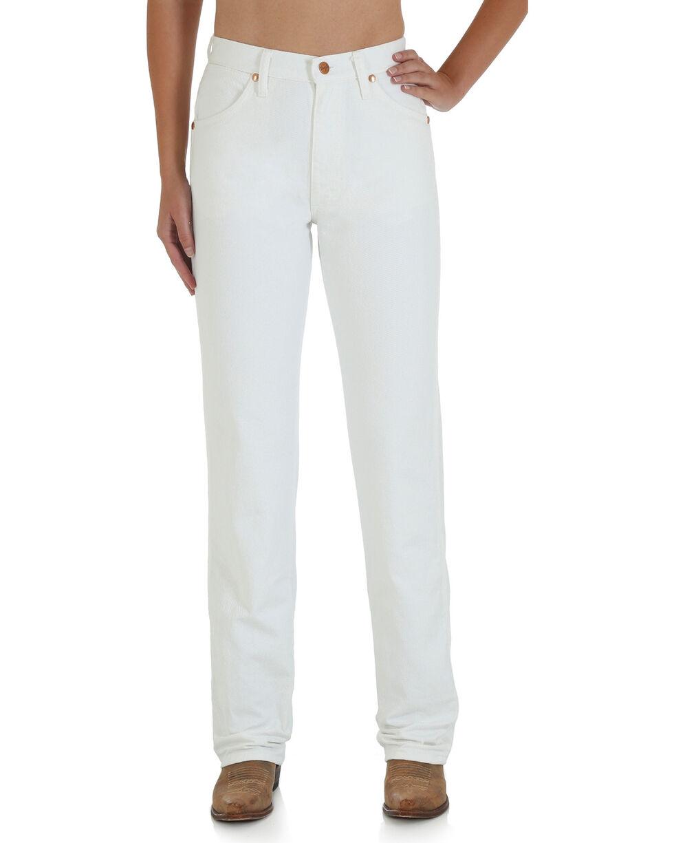 Wrangler Women's Cowboy Cut Slim Fit Jeans, White, hi-res
