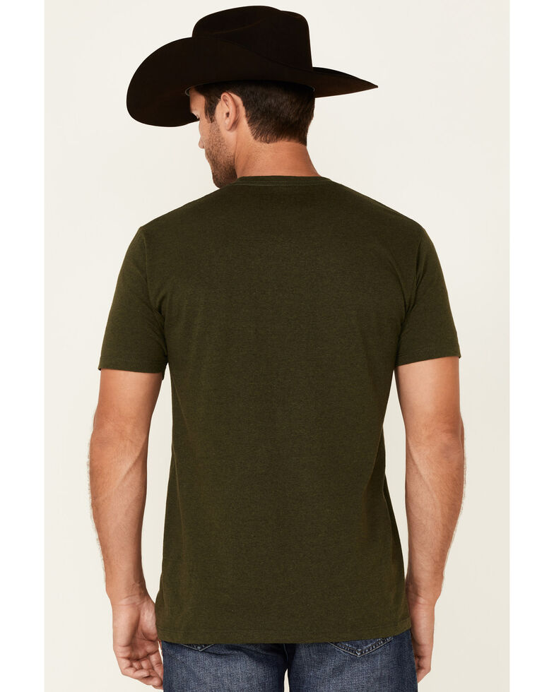 Cinch Men's Green Lead This Life Aztec Logo Graphic Short Sleeve T-Shirt , Green, hi-res