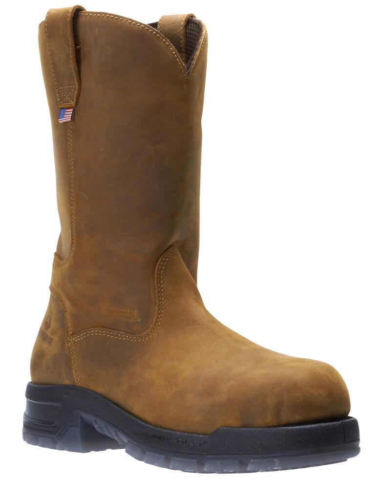 Wolverine Men's Ramparts Western Work Boots - Composite Toe, Tan, hi-res