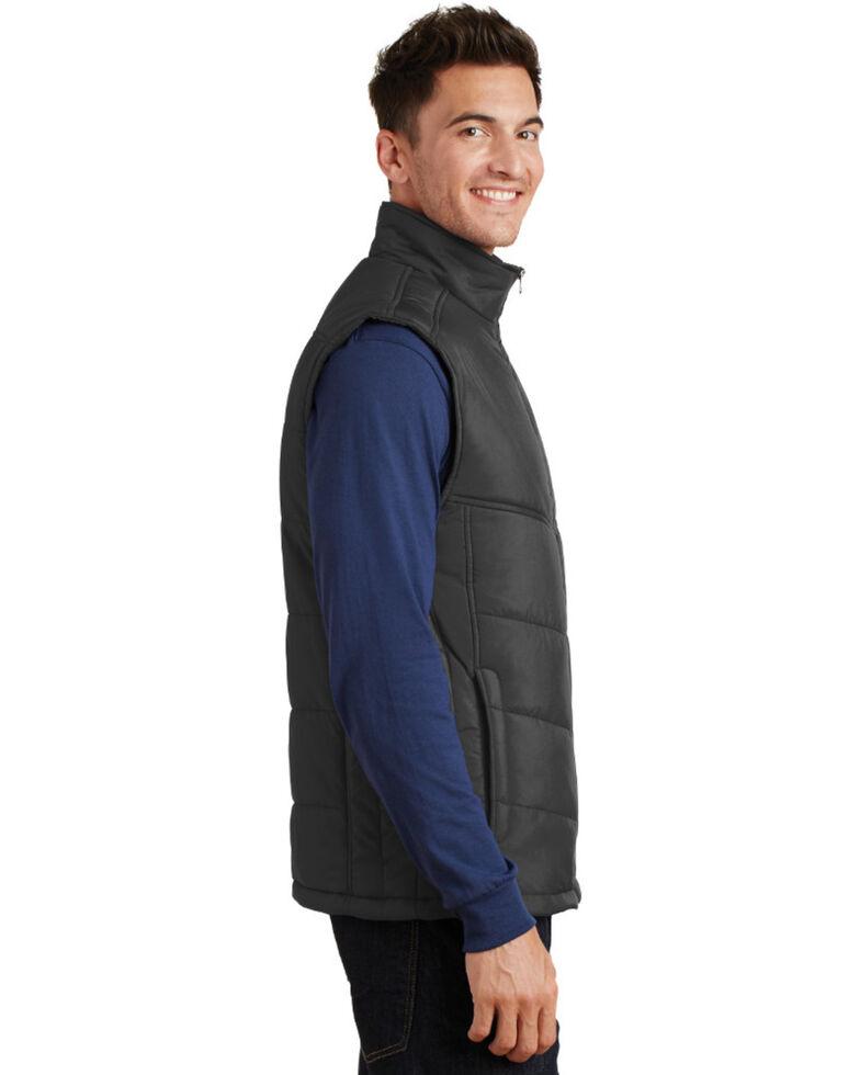 Port Authority Men's Slate Puffy Work Vest , Black, hi-res