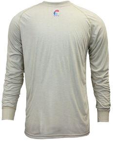National Safety Apparel Men's Khaki FR Control Long Sleeve Work T-Shirt , Beige/khaki, hi-res