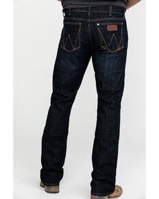 Wrangler Retro Men's Dax Dark Stretch Slim Bootcut Jeans , Indigo, hi-res