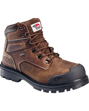 Avenger Men's Steel Toe Puncture and Heat Resistant Lace Up Work Boots, Brown, hi-res
