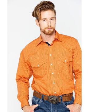 Resistol Men's Payson Long Sleeve Snap Shirt, Brown, hi-res