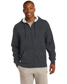 Sport Tek Men's Graphite Heather Grey 3X Full-Zip Hooded Sweatshirt - Big, Grey, hi-res