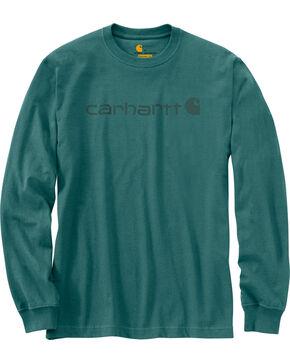 Carhartt Signature Logo Sleeve Knit T-Shirt, Blue, hi-res