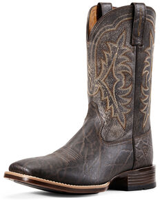 Ariat Men's Bantam Ryden Elephant Print Western Boots – Square Toe , Chocolate, hi-res
