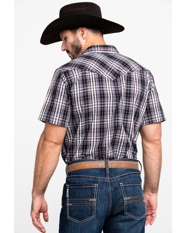 Gibson Men's Rocking Chair Plaid Short Sleeve Western Shirt , Brown, hi-res