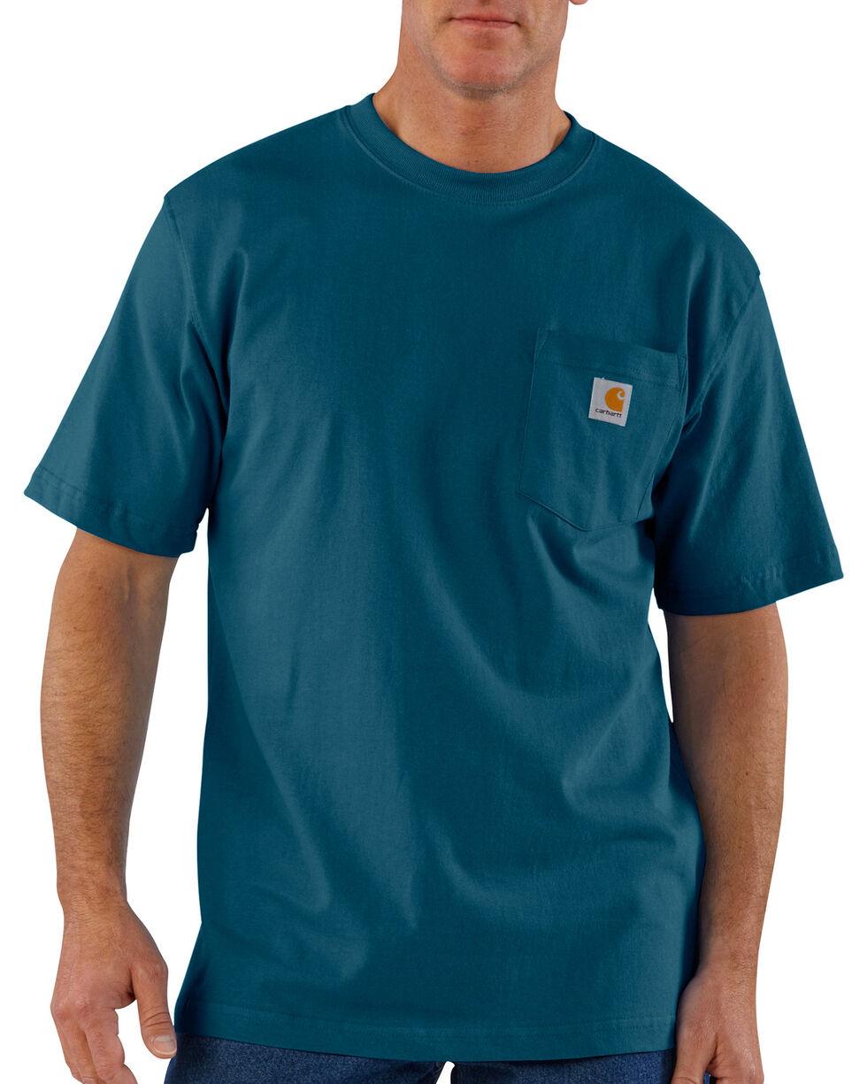Carhartt Short Sleeve Pocket Work T-Shirt, Blue, hi-res