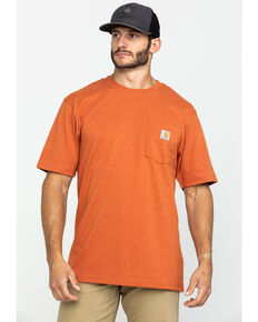 Carhartt Men's Peat Stripe Workwear Pocket Short-Sleeve Work T-Shirt, Bark, hi-res