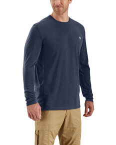 Carhartt Men's Navy Force Extremes Long Sleeve Work T-Shirt - Big , Navy, hi-res