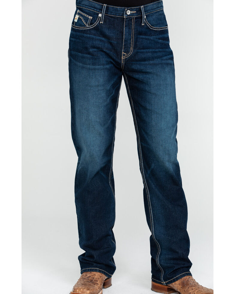 Cinch Men's Grant Rinse Mid Relaxed Boot Jeans , Indigo, hi-res