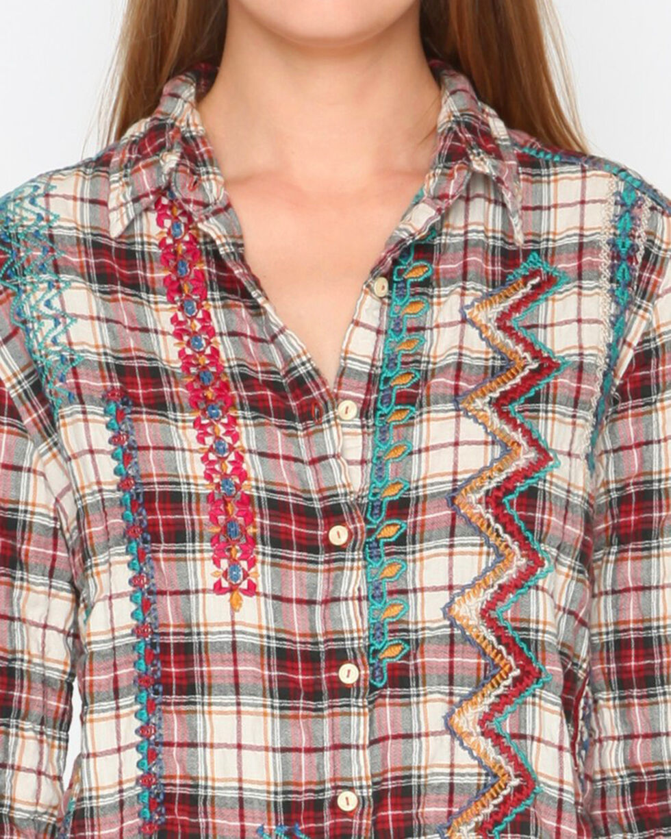 3J Workshop Plaid Sissa Painters Smock Top  , Multi, hi-res