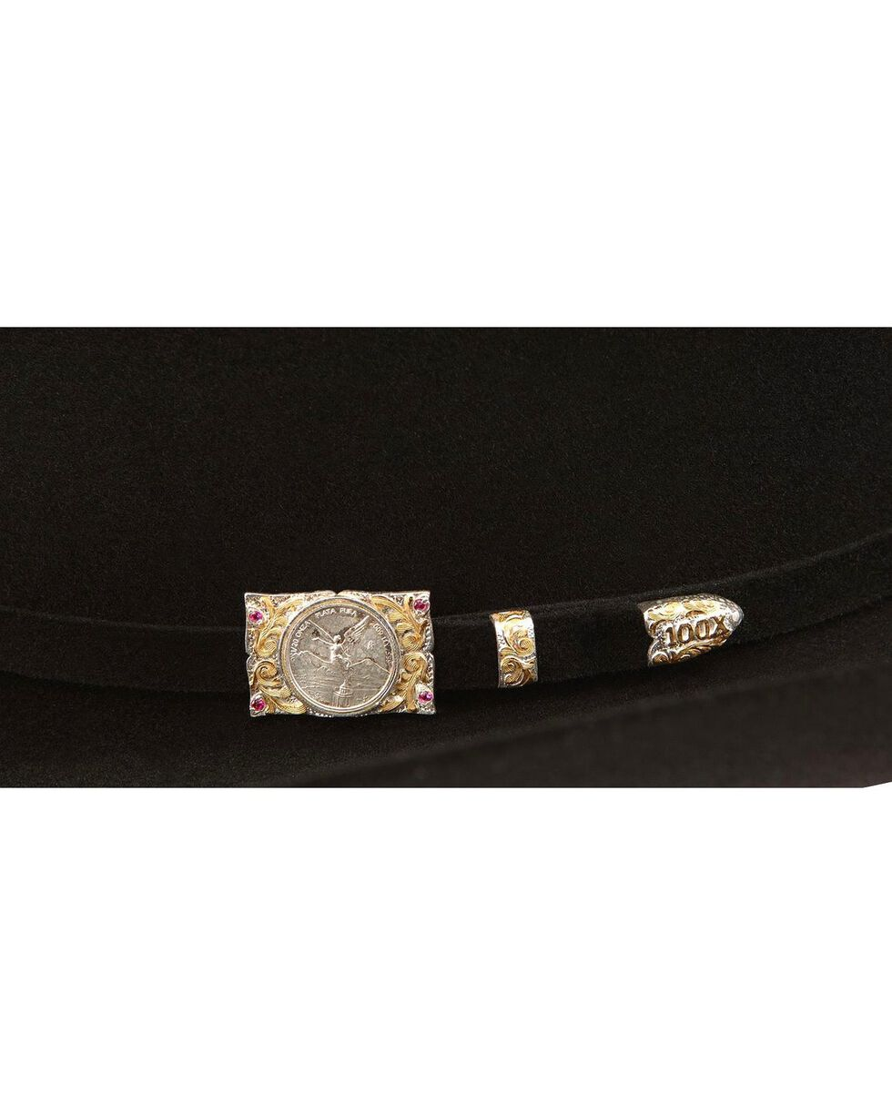 Larry Mahan Independencia 100X Fur Felt Cowboy Hat, Black, hi-res