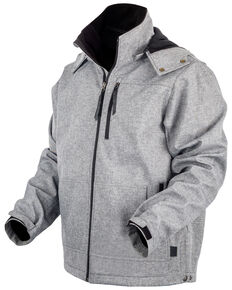 STS Ranchwear Men's Light Grey Barrier Jacket , Heather Grey, hi-res