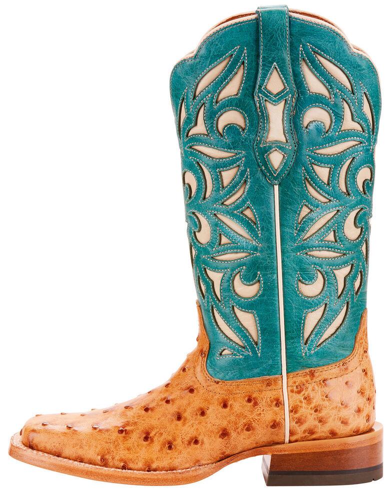 9bead9fe64b Ariat Women's Tan Carmencita Full Quill Ostrich Boots - Square Toe