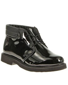 Bates Men's High Gloss Chukka Shoes - Round Toe, Black, hi-res