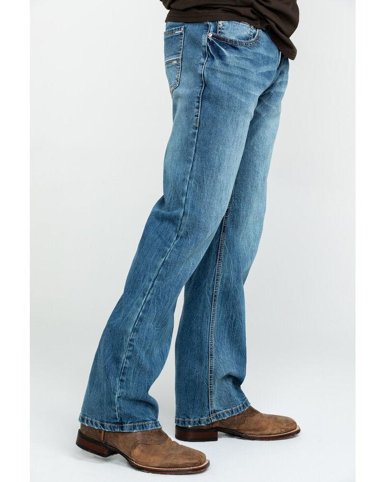 Rock & Roll Cowboy Men's Pistol Vintage Med Stretch Straight Jeans , Blue, hi-res