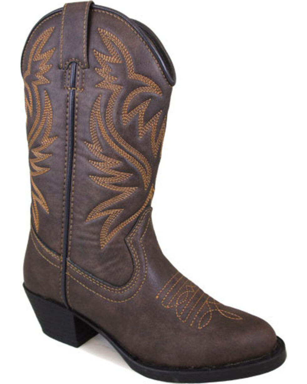 Smoky Mountain Boys' Brown Del Rio Cowboy Boots - Round Toe , Brown, hi-res